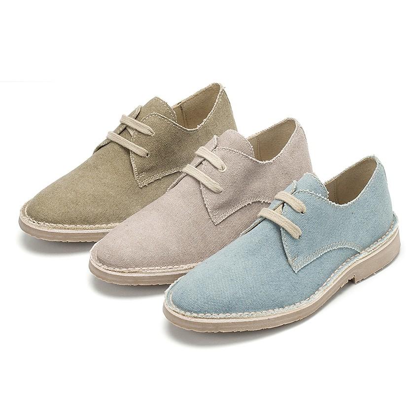 Sapatos Blucher Tela de Saco