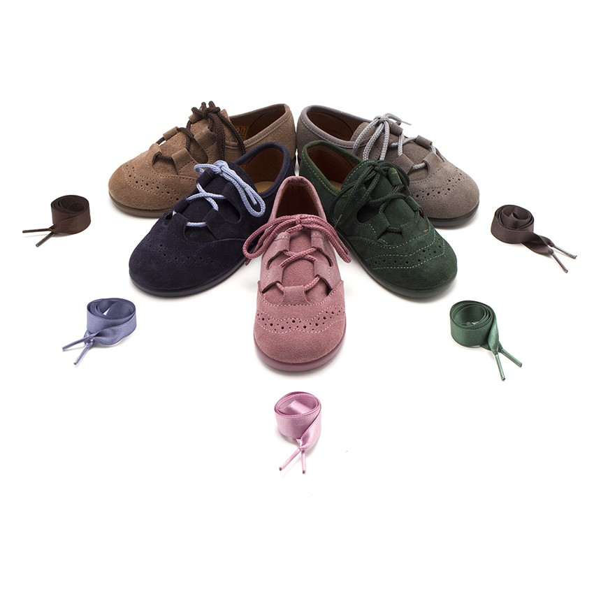 Sapatos estilo Inglês Crianças de Camurça