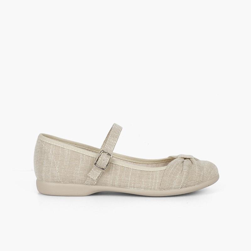 Sapatos Merceditas Cerimónia Laço Fivela