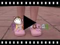 Video from Sapatos Merceditas de Lona Velcro Laço Bolinhas