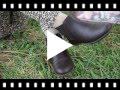 Video from Botins Menina Pele com Elástico Lateral