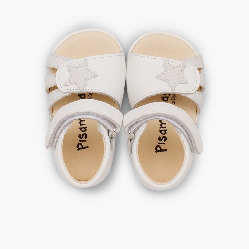 Sandálias Napa Estrela Primeiros Passos Velcro