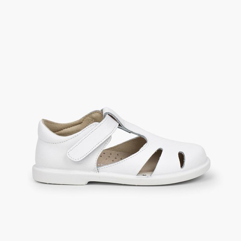 Sandálias Menino Pele Velcro tipo Pepitos