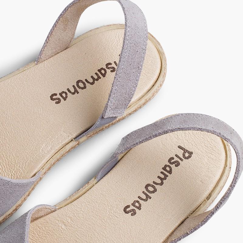 Sandálias Fechadas Menina e Mulher Camurça