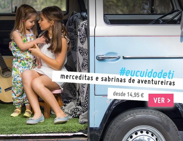 Merceditas e Sabrinas Menina e Mulher Coleção Primavera Verão 2017