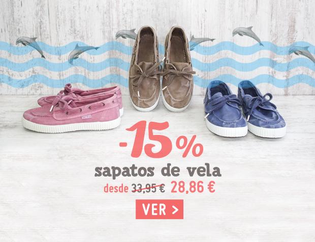 Sapatos de Vela Menina Saldos Primavera Verão 2017