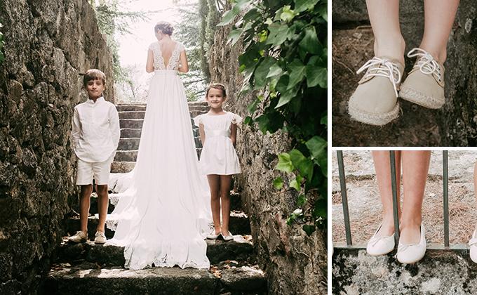 Sapatos de casamento para crianças