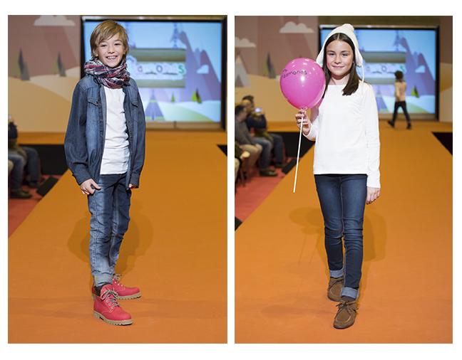 Desfile sapatos menina e menino
