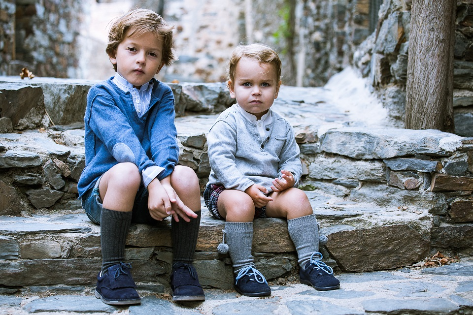 Sapatos Franjas e Gales para meninos Pisamonas