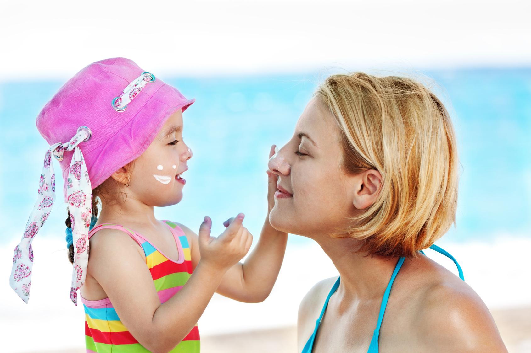 Proteja os seus filhos do sol e do calor