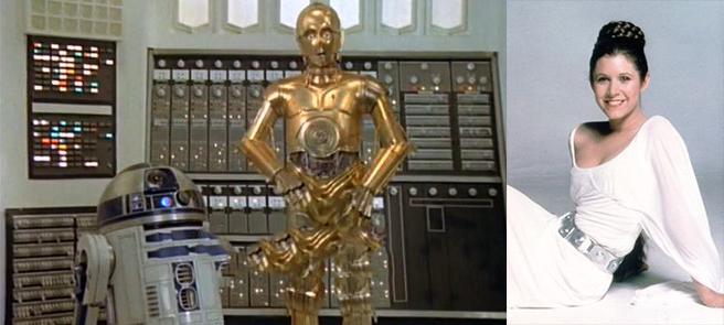 Princesa Leia, C-3PO e R2-D2