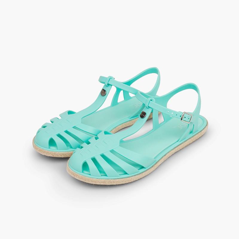 Sandálias de Borracha Juta
