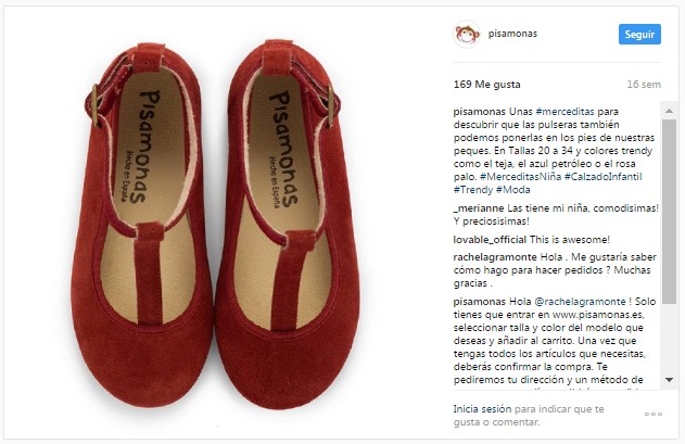 Instagram Pisamonas Merceditas em T