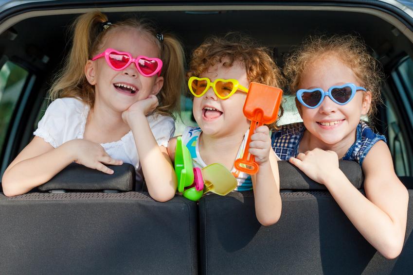 Desfrutar de uma viagem de carro com crianças